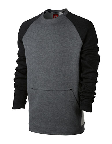 Nike Tech Fleece Sweatshirt-GREY-Large