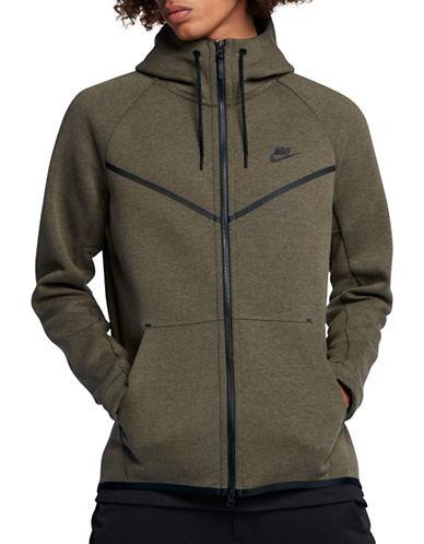 Nike Tech Fleece Windrunner Hoodie-OLIVE-Large