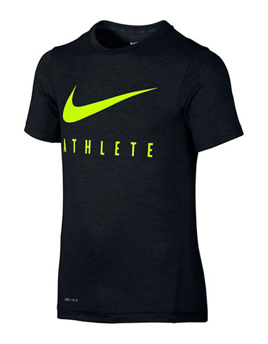 Nike Short Sleeve Logo T-Shirt-BLACK-10-12 88566989_BLACK_10-12