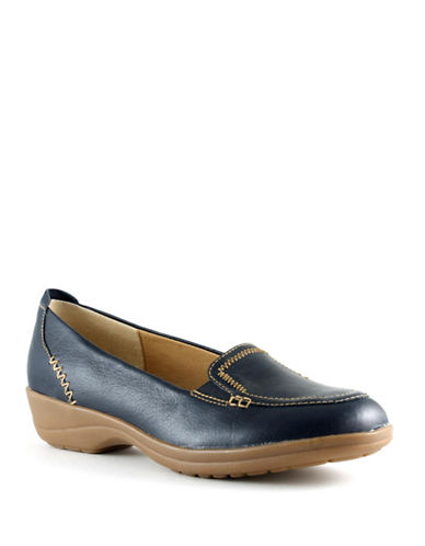 Softspots Arden Leather Slip-On Shoes-NAVY-7
