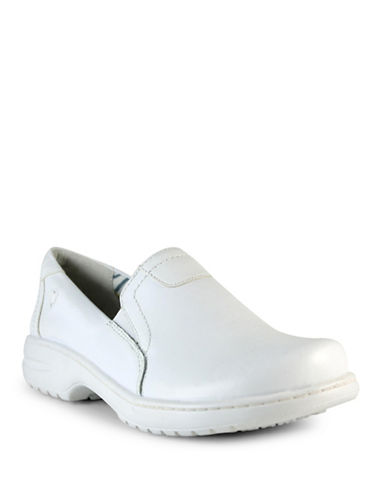 Nurse Mates Meredith Leather Loafers-WHITE-6W