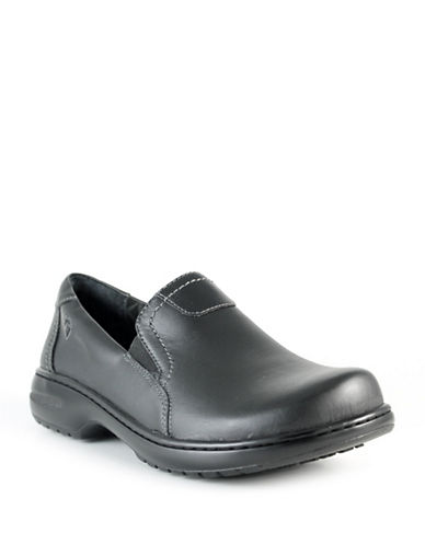 Nurse Mates Meredith Leather Loafers-BLACK-8W