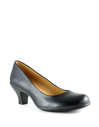 Softspots Salude Leather Pumps-BLACK-9W