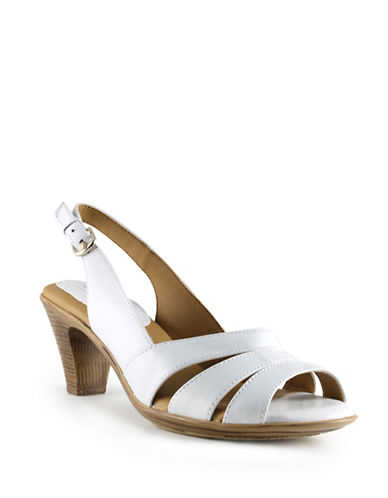 Softspots Neima Leather Sandals-WHITE-7.5W