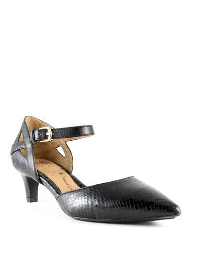 Sofft Vina Snake Print Heels-BLACK SNAKE-8.5