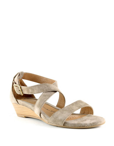 Sofft Innis Leather Criss Cross Sandals-BEIGE-9