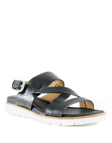 Sofft Marisol Mixed Media Sandals-BLACK SNAKE-6