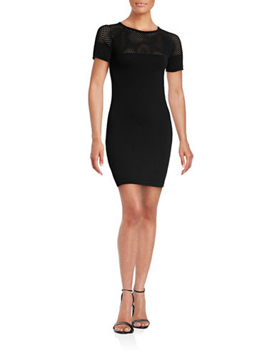 Trina By Trina Turk Zaida Sweater Dress-BLACK-X-Small
