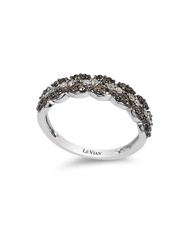 Le Vian Chocolate Diamonds  14K White Gold Diamond Ring-WHITE GOLD-7