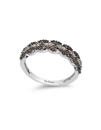Le Vian Chocolate Diamonds  14K White Gold Diamond Ring-WHITE GOLD-7