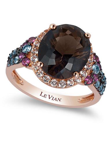 Le Vian Chocolate Quartz 14K Rose Gold Quartz Ring-ROSE GOLD-7