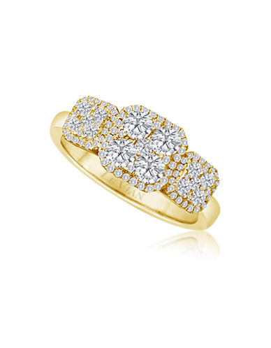 Le Vian 14K Honey Gold  Vanilla Boxed Diamonds Ring-WHITE-7