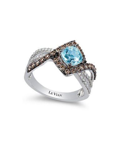 Le Vian Sea Blue Aquamarine 14K White Gold Aquamarine Ring-WHITE GOLD-7