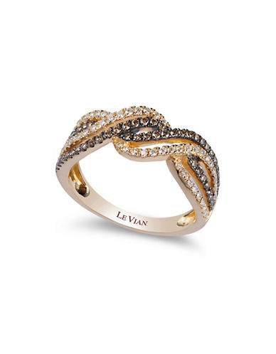 Le Vian Chocolate Diamonds  14K Yellow Gold Diamond Ring-YELLOW GOLD-7