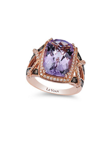 Le Vian Cotton Candy Amethyst 14K Rose Gold Quartz Ring-ROSE GOLD-7