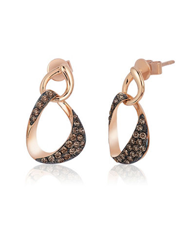 Le Vian 14K Strawberry Gold Linked Chocolate Diamond Earrings-ROSE GOLD-One Size