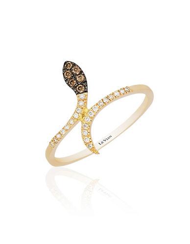 Le Vian 14K Honey Gold Diamond Snake Ring-WHITE-7