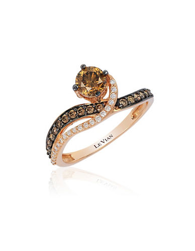 Le Vian 14K Strawberry Gold Chocolatier Gladiator Ring-WHITE-7