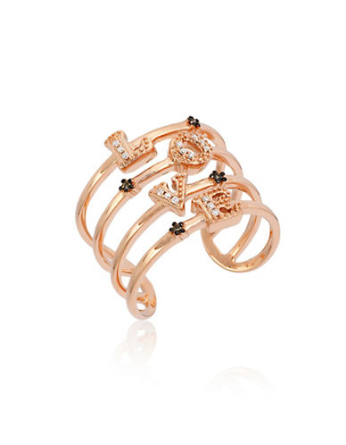 Le Vian 14K Strawberry Gold Love Diamond Ring-WHITE-7