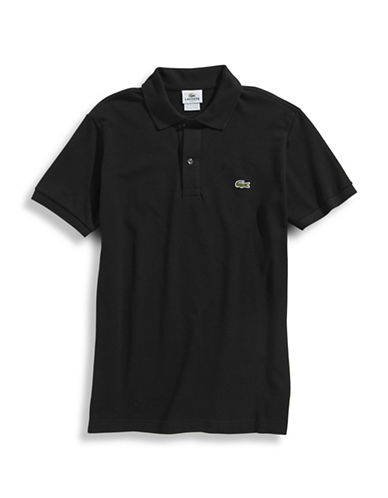 Lacoste Slim Basic Polo Shirt-BLACK-3