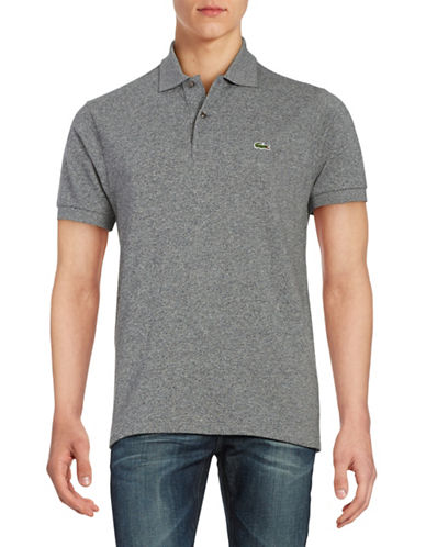 Lacoste Short-Sleeved Polo Shirt-GREY-XX-Large