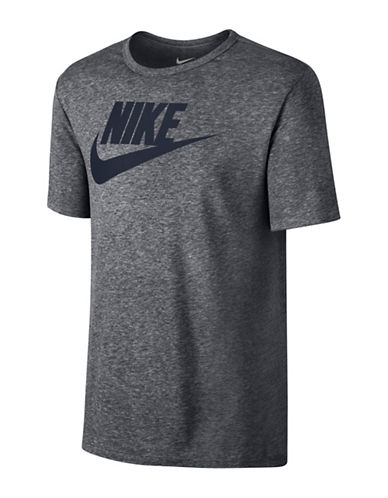 Nike Futura Icon T-Shirt-GREY-X-Large