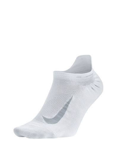 Nike Elite Lightweight No-Show Tab Socks-WHITE/GREY-5