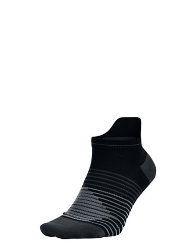 Nike Performance No-Show Running Socks-BLACK-Medium
