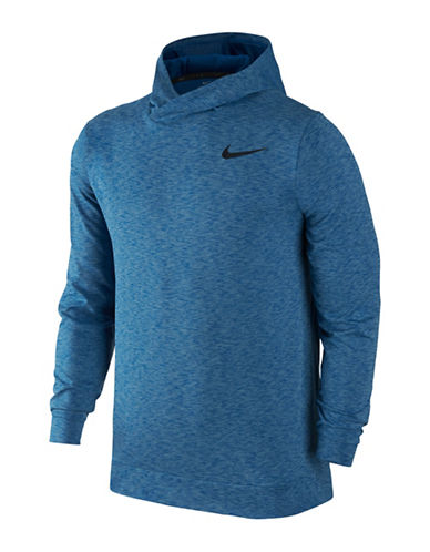 Nike Breathable Training Hoodie-BLUE-Large