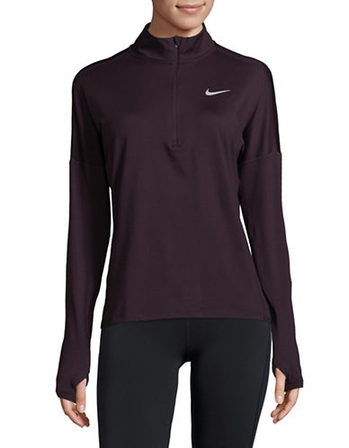 Nike Half-Zip Athletic Sweater-RED-Small 89655436_RED_Small