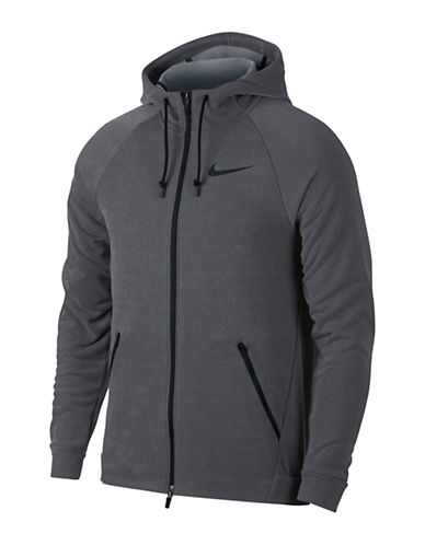 Nike Dry Training Hoodie-GREY-Large