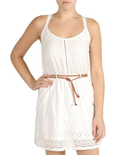 Lady Dutch Eyelet Dress-WHITE-Large