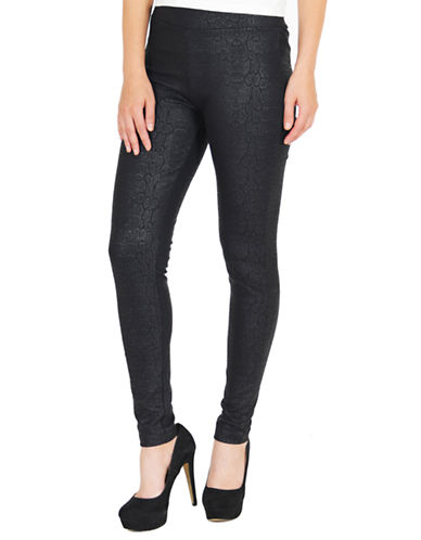 Lady Dutch Tonal Print Leggings-BLACK-X-Small 87139549_BLACK_X-Small