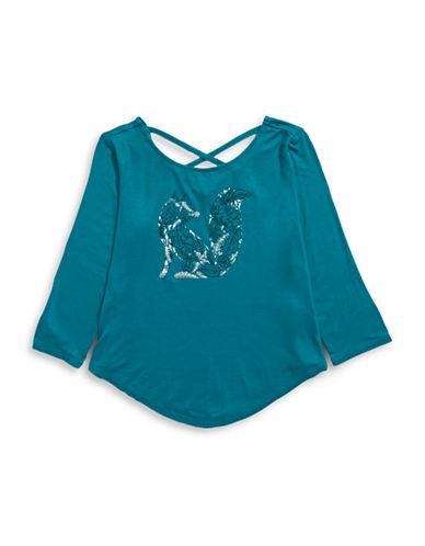 Material Girl Printed Cross-Back Tee-GREEN-Medium 88711796_GREEN_Medium