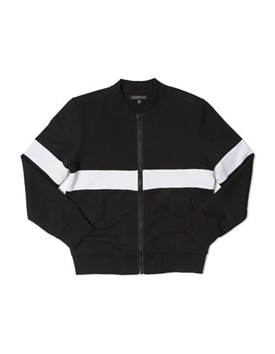 Elwood Colourblock Bomber Jacket-BLACK-Medium 88802518_BLACK_Medium