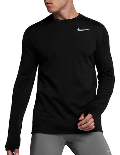 Nike Therma Sphere Element Running Top-BLACK-XX-Large