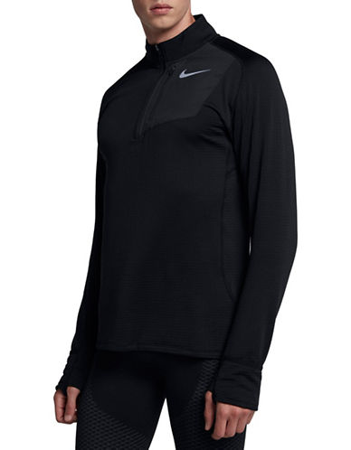 Nike Therma Sphere Element Running Top-BLACK-Small
