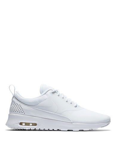 Nike Womens Air Max Perforated Mesh Sneakers-WHITE-8.5
