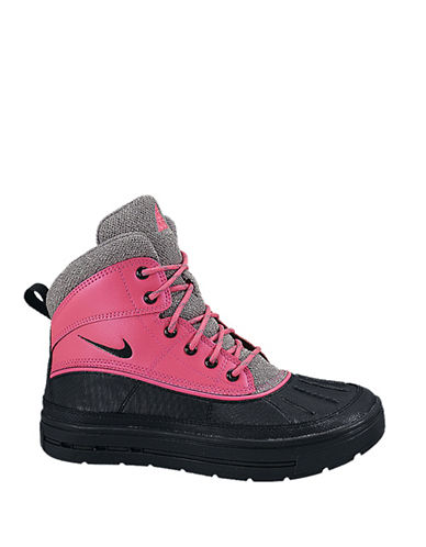 Nike Womens Woodside II High Boots-PINK-4