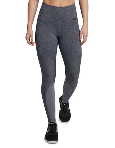 Nike Power Training Leggings-GREY-X-Large