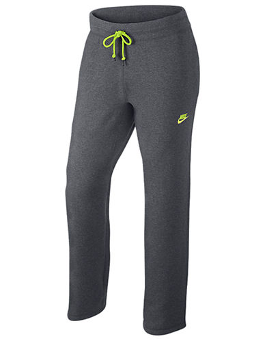 Nike Intentional Open Hem Fleece Pants-CARBON-XX-Large
