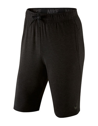 Nike Dri-fit Training Fleece Shorts-BLACK-Large 88671577_BLACK_Large