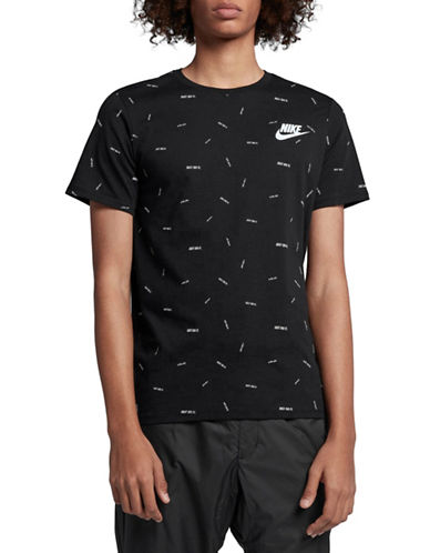 Nike Sportswear Cotton T-Shirt-BLACK-Large 90029968_BLACK_Large