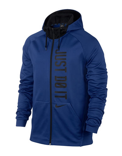 Nike Therma Full-Zip Training Hoodie-BLUE-Large 89087397_BLUE_Large