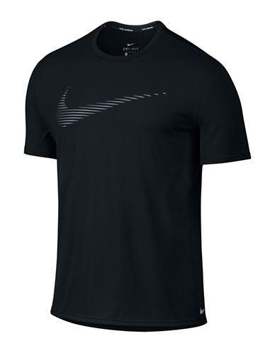 Nike Dry Contour Running Top-BLACK-Medium 88501623_BLACK_Medium