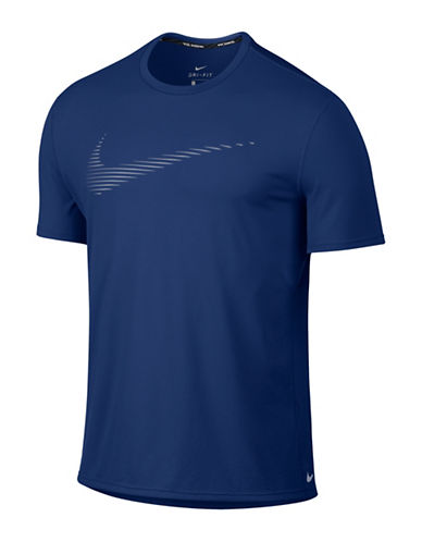 Nike Dry Contour Running T-Shirt-DEEP ROYAL-Large 88595411_DEEP ROYAL_Large