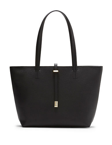 Vince Camuto Leila Textured Small Tote-BLACK-One Size