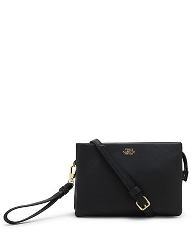 Vince Camuto Cami Leather Crossbody-BLACK-One Size