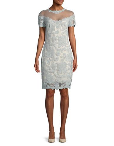 Tadashi Shoji Lace Short Sleeve Dress-MINT-16