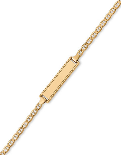 Fine Jewellery 14K Yellow Gold Anchor Chain Children Bracelet-GOLD-One Size